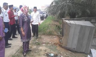 Pos TPR Baganbatu Dirubuhkan Kadishub Rohil