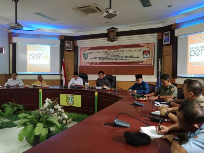 KPU Provinsi Riau Gelar Sosialisasi di Dumai