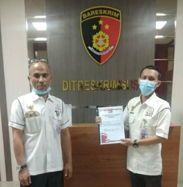 GNPK-RI Laporan Dugaan Penyelewengan Dana Desa Beringin Jaya ke Polda Riau