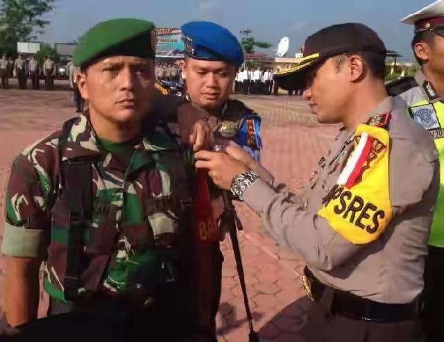 Kapolres Rohil Pimpin Apel Gelar Pasukan Operasi Ketupat Muara Takus 2018