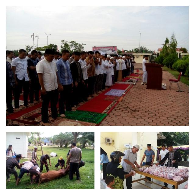 Kapolres Rohil Dan Jajaran Sholat Idul Adha 1438 H Di