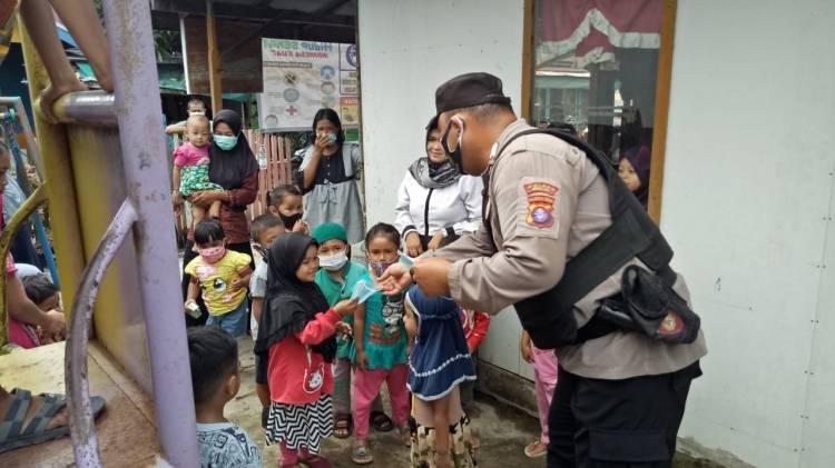 Personil Sat Binmas Sambang Paud di Kuala Pembuang