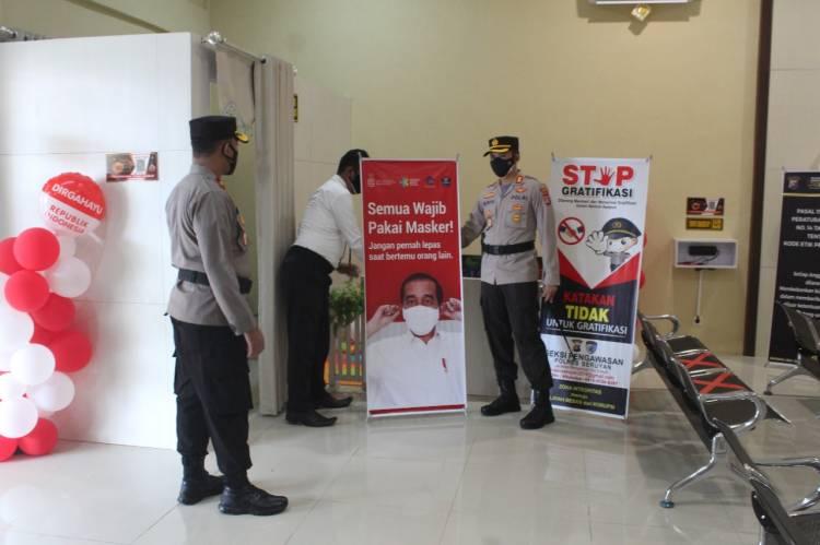 Tingkatkan Pelayanan Publik, Kapolres Seruyan Lakukan Pengecekan Di Gedung SPKT Wicaksana Laghawa