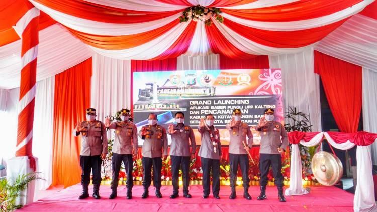 Kapolres Seruyan Hadiri Grand Launching Aplikasi Saber Pungli UPP Provinsi Kalteng