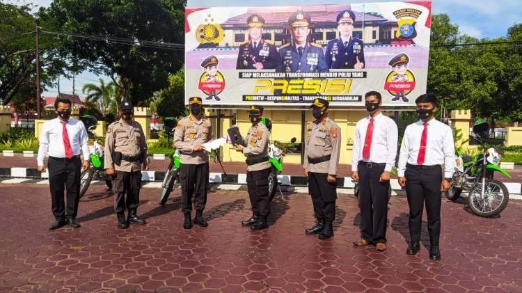 Kapolres Seruyan Pimpin Apel Penyerahan Kendaraan Dinas Untuk Polsek Jajaran
