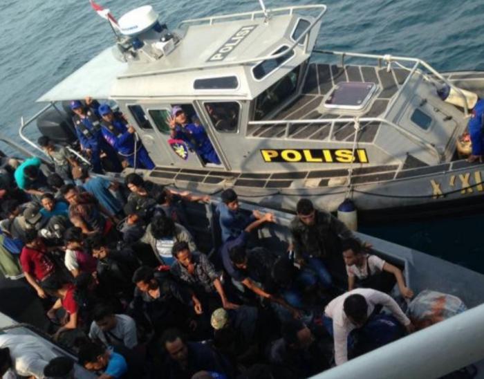 18 Migrandari Malaysia Ditangkap di Perairan Rupat