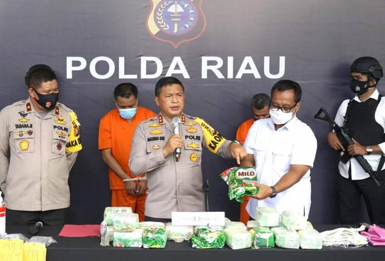 Tim Harimau Kampar Gulung Bandar Narkoba, 2 Pelaku Dan 20 KG Sabu Diamankan, 2 Pelaku Meninggal