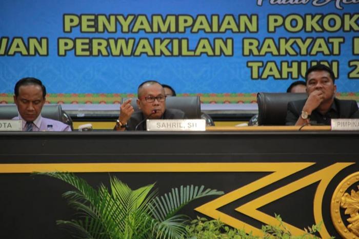 Sidang Paripurna Penyampaian Pokir DPRD Kota Pekanbaru Tahun 2019