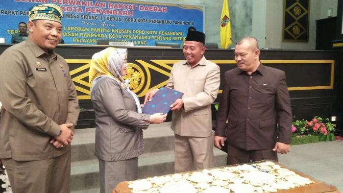 Pengesahan Perda Retribusi Tera Ulang Kota Pekanbaru